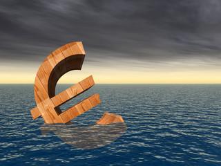 High resolution conceptual 3D euro symbol