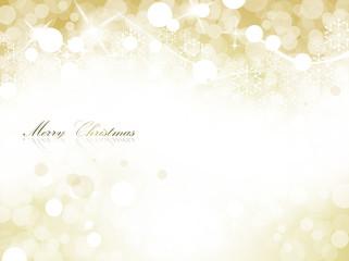 cartolina natalizia con luci dorate