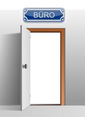 Tür zum Büro