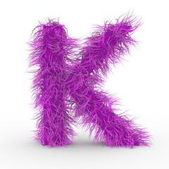 Texteffekt Haare Pink Buchstabe K