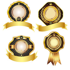 Set of golden design elements.