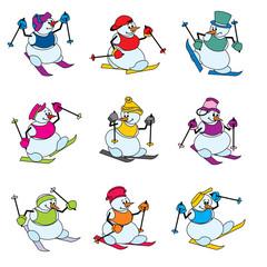 fun snowman skier
