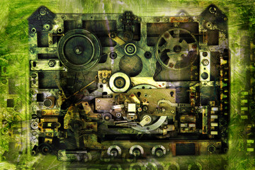 Vintage background-analog recorder