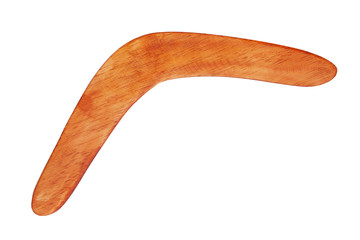 Boomerang bright brown color of wood