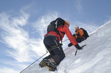 steiler Weg zum Gipfel