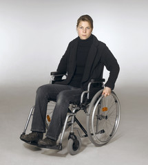 woman in a wheelchair