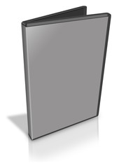 Open Grey DVD Case
