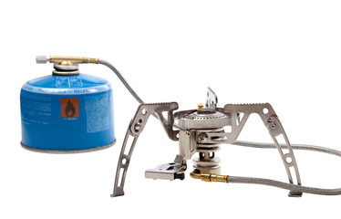 Camping gas stove with cartridge