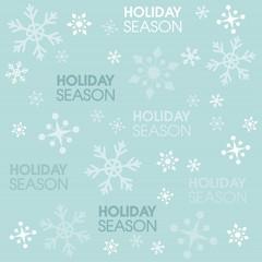 Christmas and holiday season pattern of snowflakes