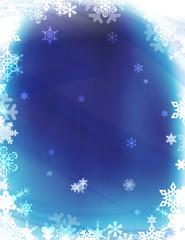 Winter Wonderland Snowflakes Background