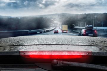 Driving through Rain