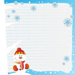ich schreibe dir - weihnachtskarte