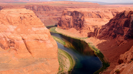 Colorado River at Horseshoe bend in Page, Arizona