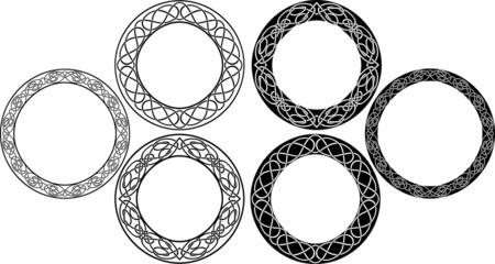 Celtic circle set. vector illustration for web