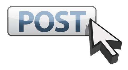 post button and arrow cursor illustration design
