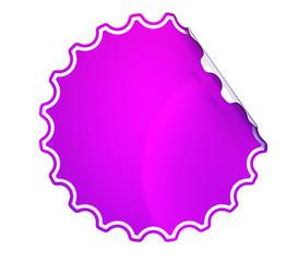 Magenta round sticker or label