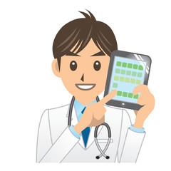 医者 A IT タブレット