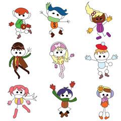 christmas cartoon children