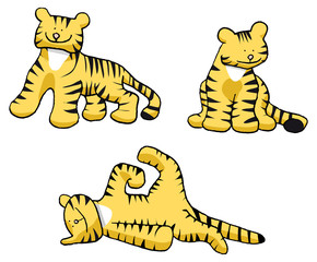 three tigers