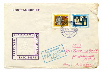 "Vintage german first day cover ""Leipziger Herbstmesse"""
