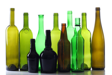 Glasses bottles