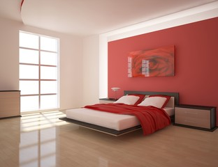 red bedroom design