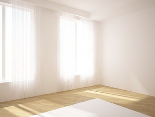 white empty room ih the house