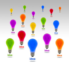 colorful idea light bulb