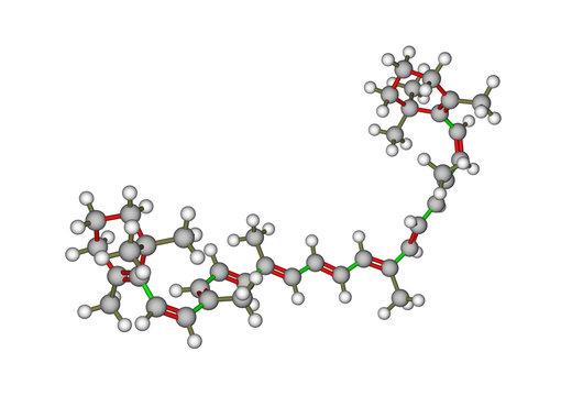 Molecular structure of beta-carotene