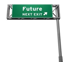 Future - Freeway Exit Sign
