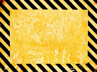 Grunge warning background