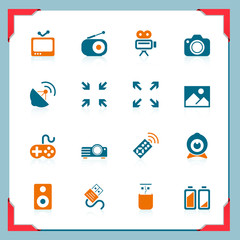 Media icons   In a frame series