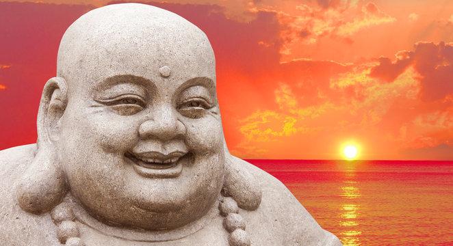 Buddha and a sunset