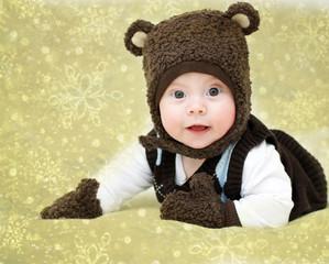Portrait of a boy dressed as Bear