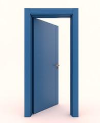 Porta blu aperta