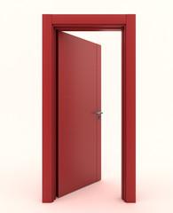 Porta rossa aperta