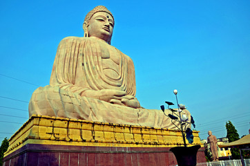 Buddha statue in Buddha Gaya,India