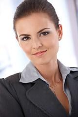 Portrait of smart woman smiling