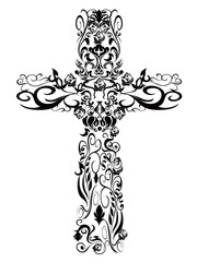 Christian pattern Cross decoration design