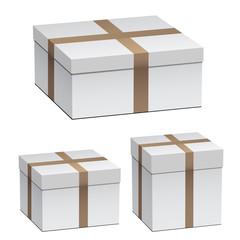 vector white shipping boxes