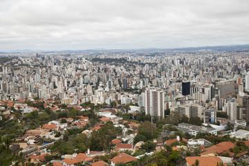 City landscape. Downtown buildings. Belo Horizonte, Brazil.