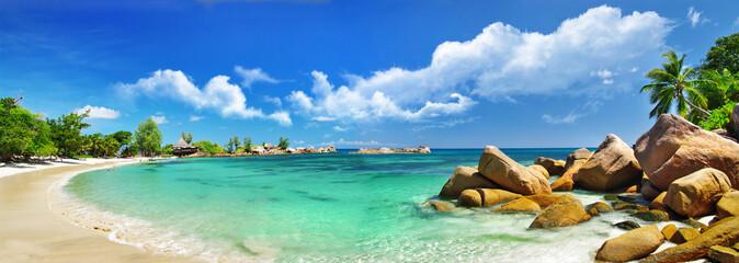 Wall Mural - Seychelles , beach panorama