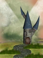 Wall Murals Dragons Fantasy castle
