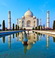 In de dag India Taj Mahal in India