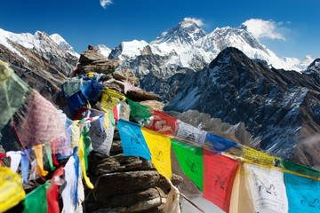 Wall Murals Nepal view of everest from gokyo ri
