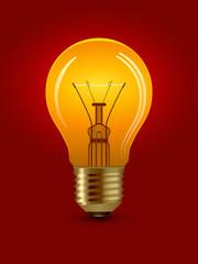 vector shining bulb