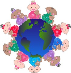 mixed ethnic babies around the world