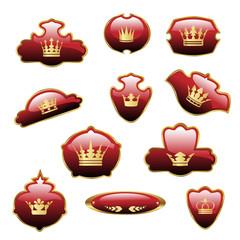 Vector royal labels