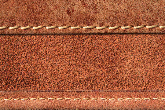 leather with seam background.