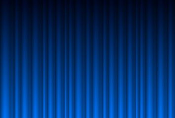 Realistic blue curtain
